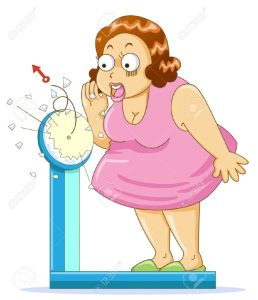11259411-Overweight-fat-woman-on-the-weight-scale-Stock-Photo-cartoon-516x600
